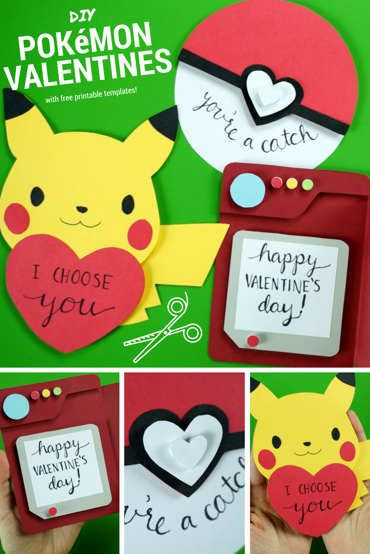 Super cute tutorial for three Pokémon Valentine's Day ...