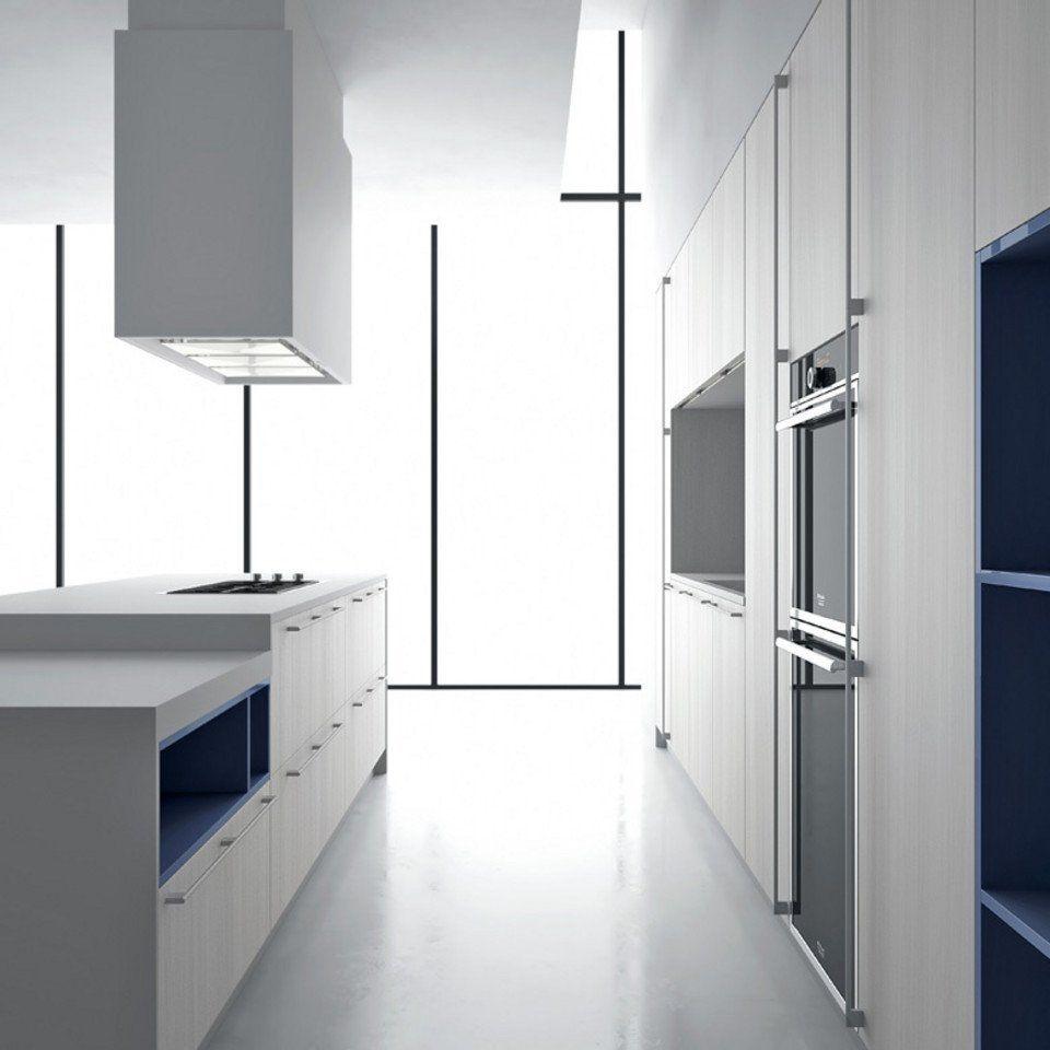 Cocina modular de calidad, cocina con paredes de armarios y paneles ...