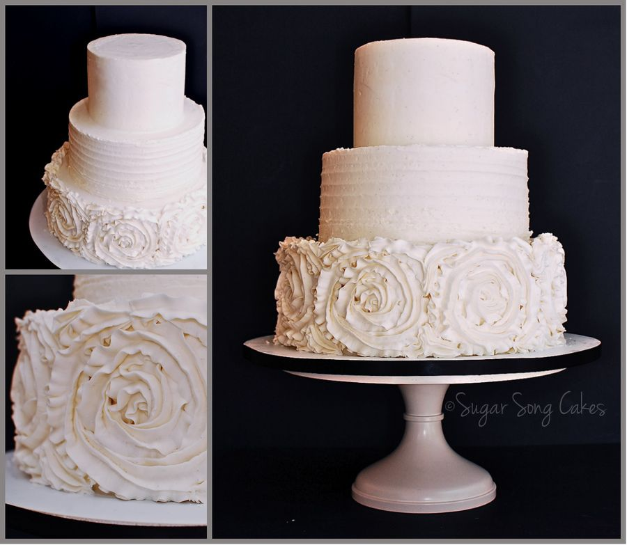 Buttercream In Textures To Echo The Design Of The Bride's