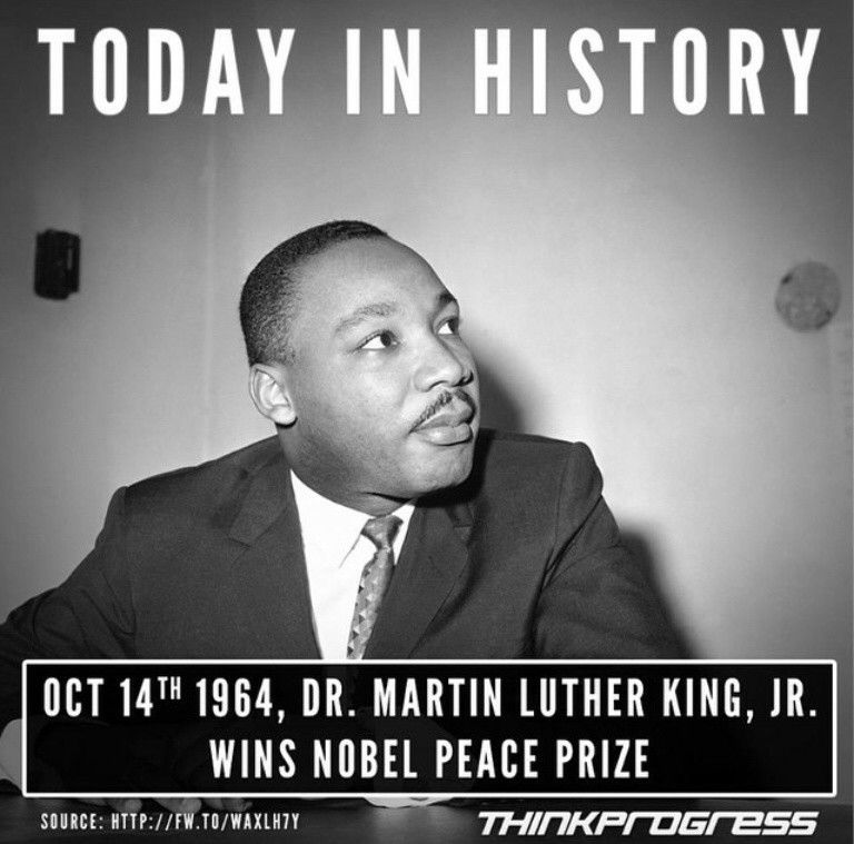 On October 14 1964 Dr Martin Luther King Jr Wins The Nobel Peace