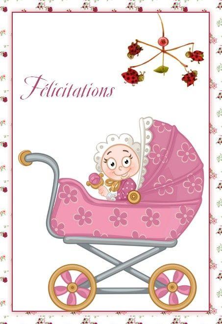 Beliebt carte de voeux pour naissance pour imprimer | Carte félicitation  WP19