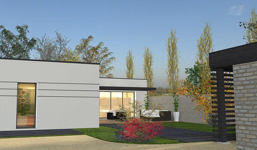 Maison CONTEMPORAINE de plain-pied 111 m² 4 chambres Architecture