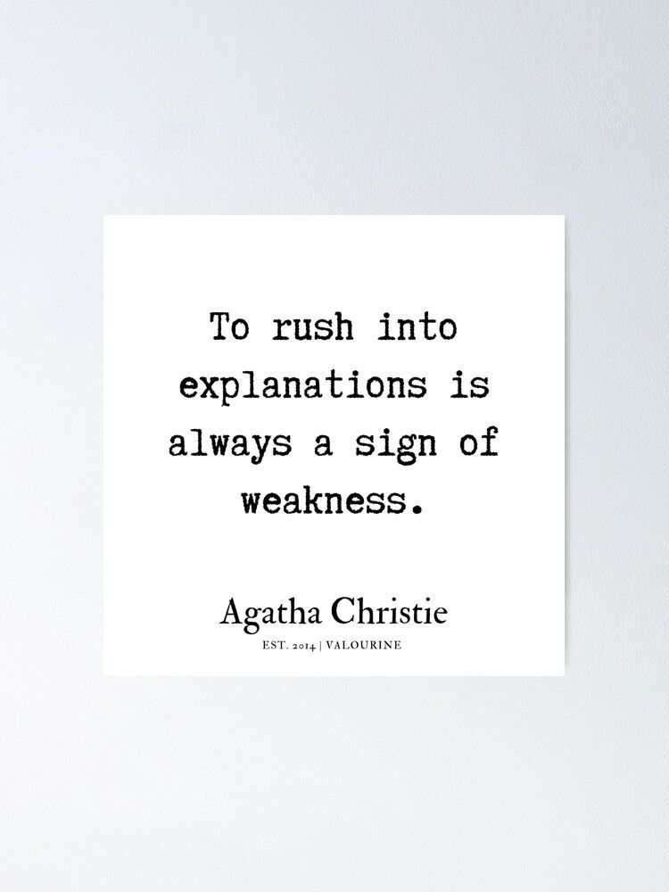 54  | Agatha Christie Quotes | 190818 Poster by QuotesGalore