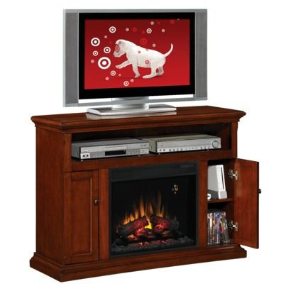 Cannes Indoor Electric Fireplace And Tv Media Stand Cherry Finish Design Ideas For Whitsett