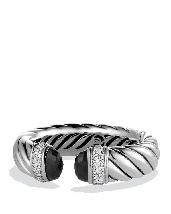 David Yurman Waverly Bracelet With Black Onyx Diamonds
