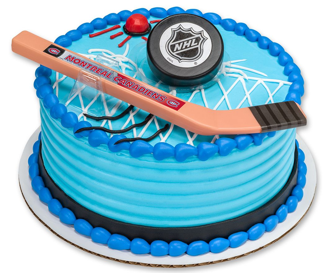 NHL Slap Shot DecoSet Cake Topper Montreal Canadiens Boys Party