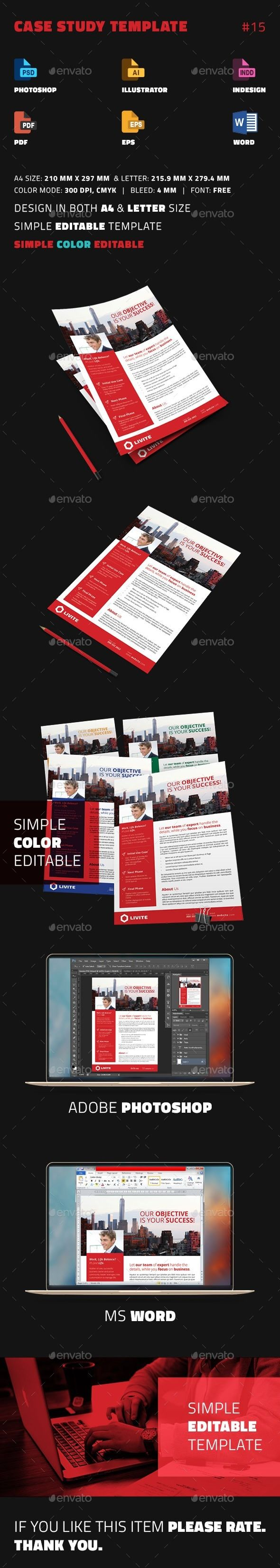 Case Study Template | Newsletter design templates, Case study design ...