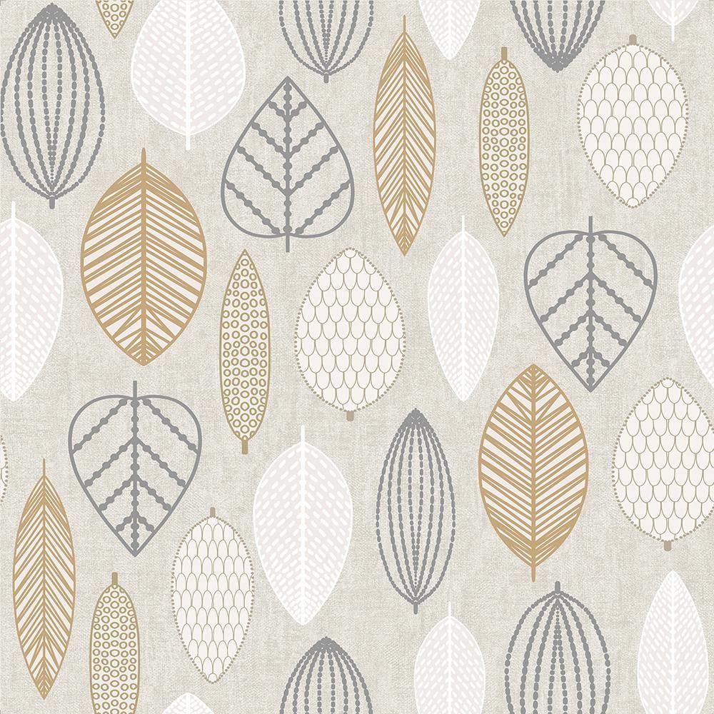 Superfresco Easy Highland Scandi Leaf Copper Removable Wallpaper Brown Leaf Wallpaper Copper Wallpaper Scandinavian Wallpaper