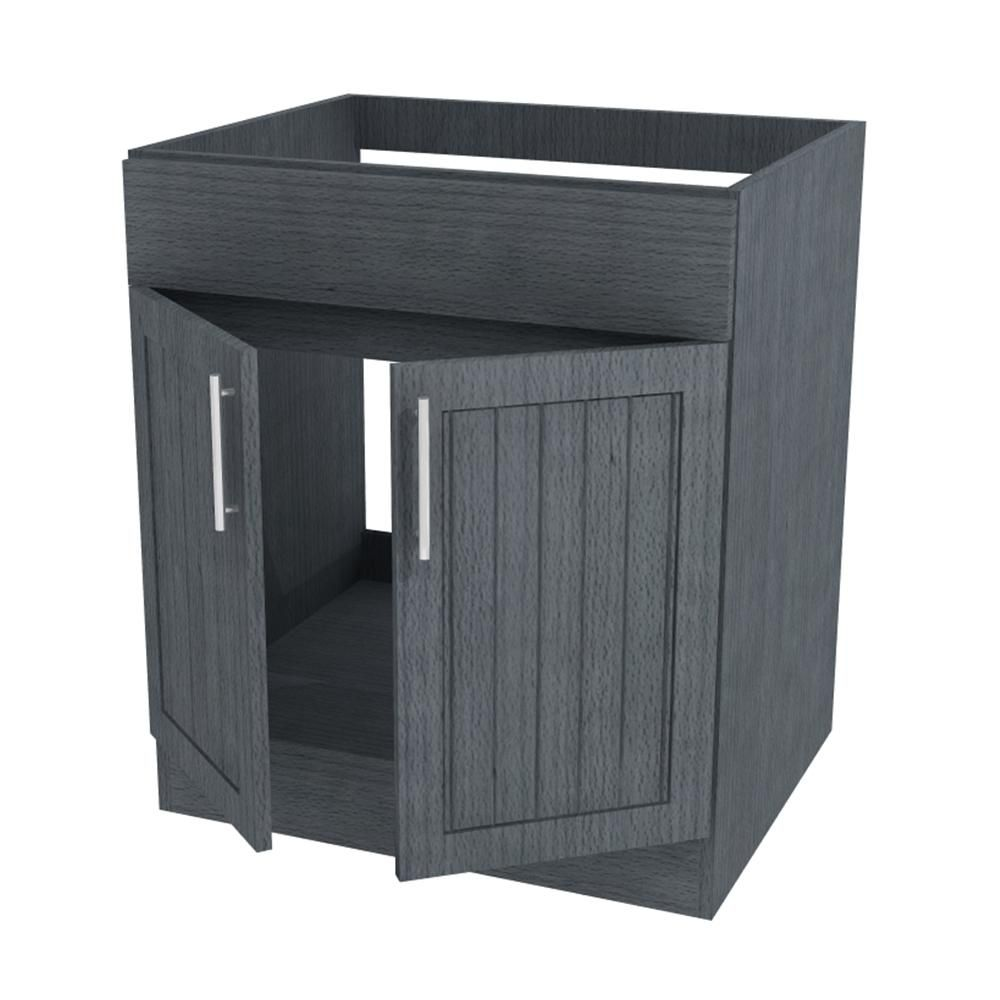 Weatherstrong Assembled 24x34 5x24 In Naples Open Back Sink Outdoor Kitchen Base Cabinet With 2 Doors In Rustic Gray Wsosb24 Nrg Base Cabinets Kitchen Base Cabinets Locker Storage