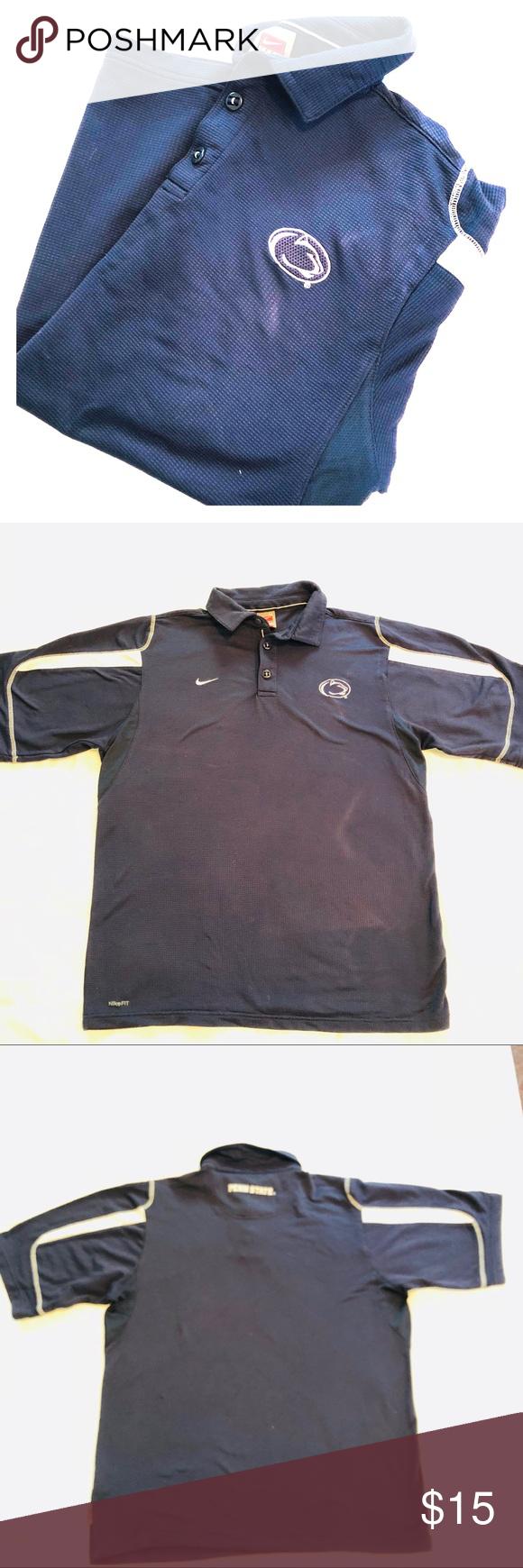 Penn State Mens Logo Nike Collared Shirt Blue Polo In 2018 My Posh