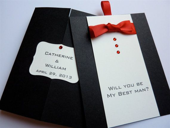 Will You Be My Best Man Card With Silver Envelope By