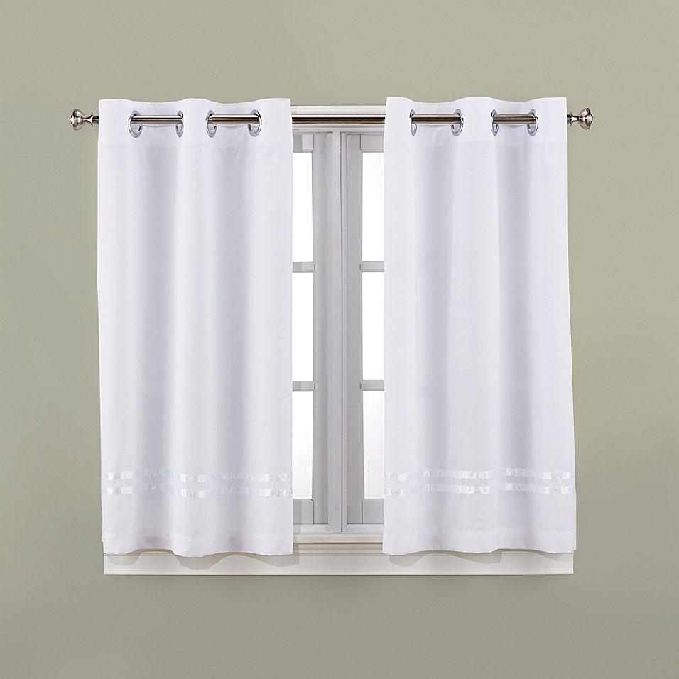Hookless Escape 45 Bath Window Curtain Panels In White In 2020