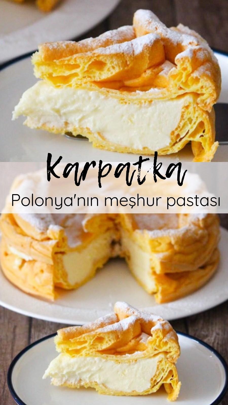 Karpatka Tarifi (Polonya'nın Meşhur Pastası) nasıl yapılır  3 301 kişinin defterindeki bu tarifin resimli anlatımı ve deneyenlerin fotoğrafları burada  Yazar Emine Ayşe Karataslı karp is part of Pasta cake -