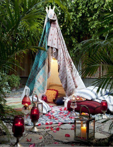 Valentine's Day tent   Romantic camping trip, Backyard ...