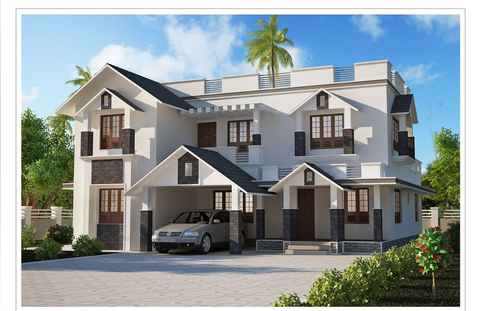 Modern Kerala House Design 2013 At 2980 Sq Ft Kerala House Design House Design Photos Kerala Houses