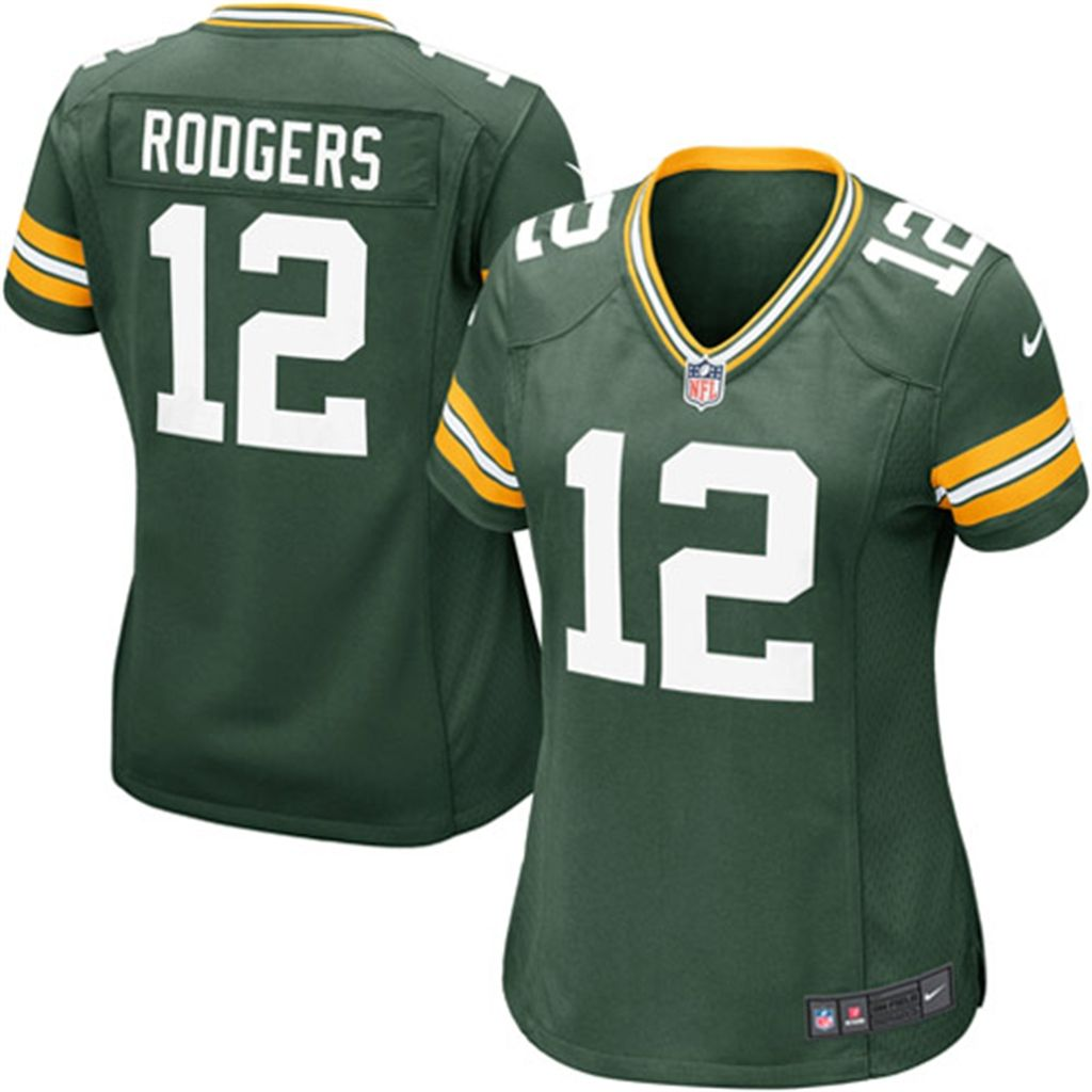 promo code dbd70 0ce2e Women's Green Bay Packers Aaron Rodgers Nike Green Game ...