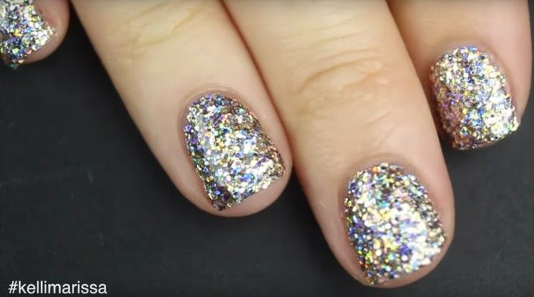 This Easy Glitter Nail Polish Hack Means No More Splotchy Sparkles
