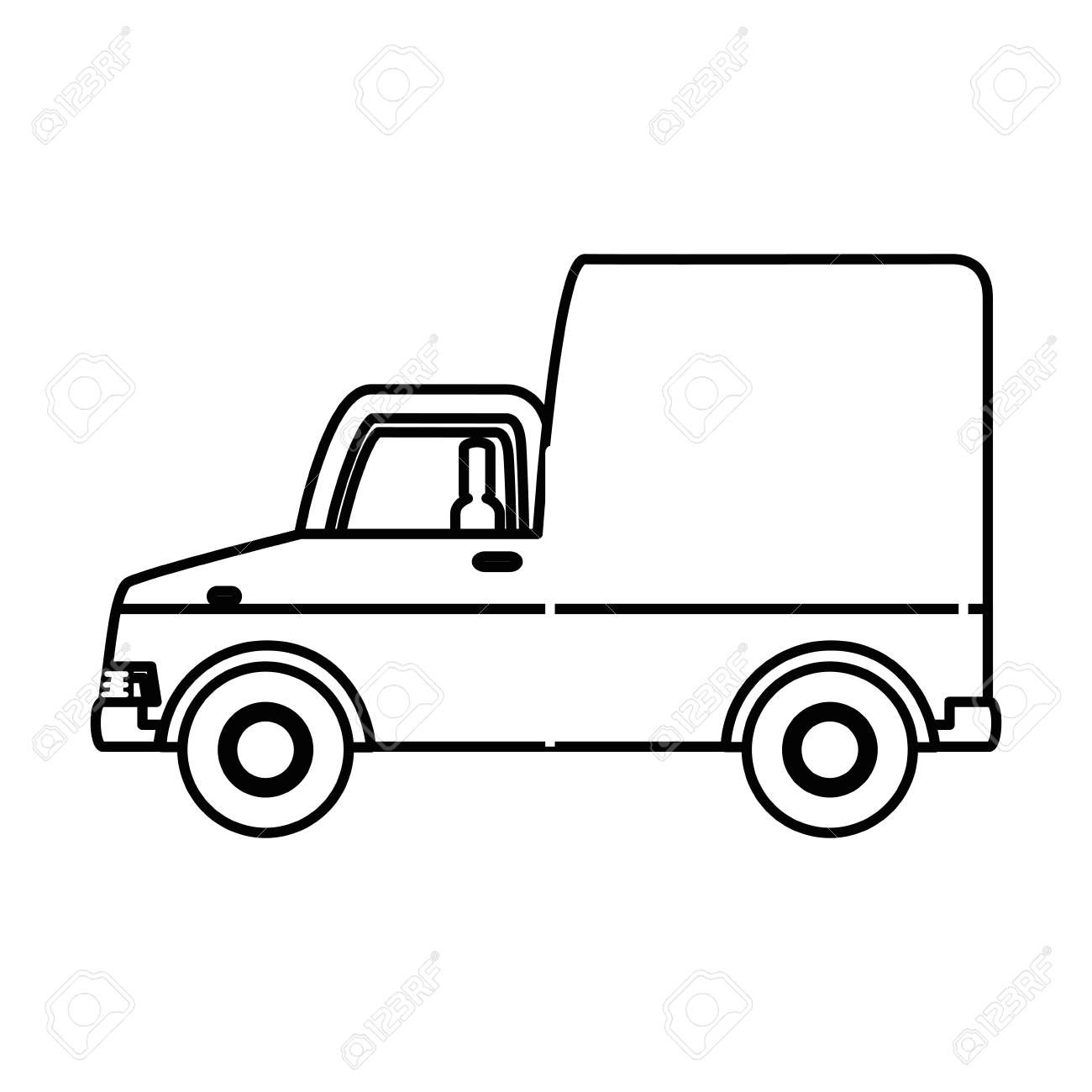 Delivery Truck With Boxes Vector Illustration Design Spon