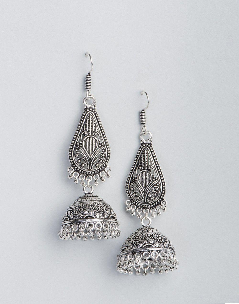 c3c986b68 Metal Anusuya EM 290 Jhumka Earrings | Indian Jewellery | Jewelry ...