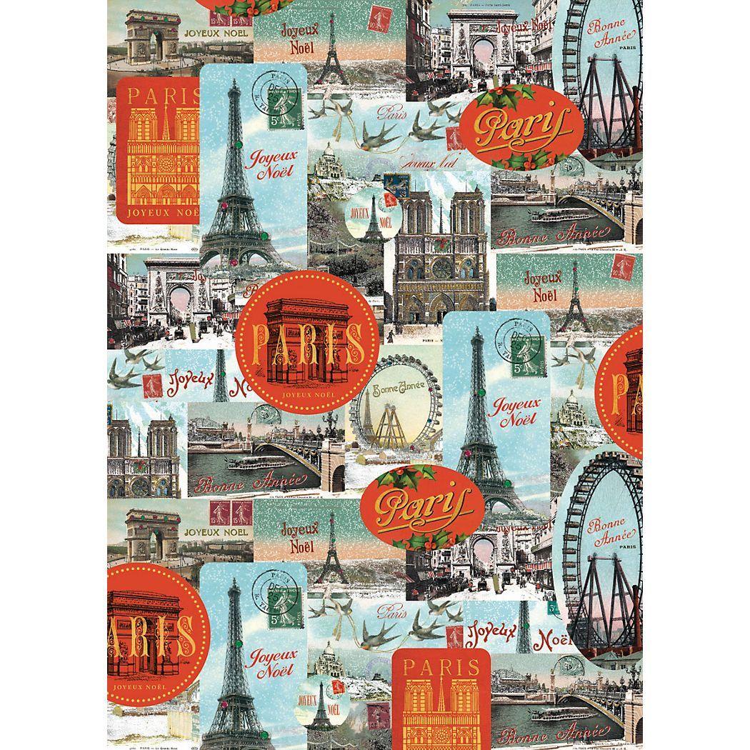 Cavallini Paris Joyeux Noel Wrapping Paper - Paper Source