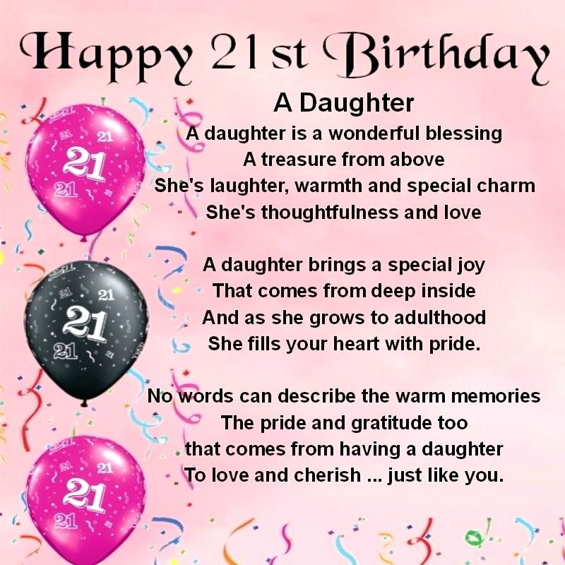 21st Birthday Gifts For Daughter Birthday Daughter Quotes Unique