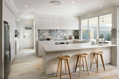 Moderne Küche in U-Form - Kochkomfort inmitten von modernen Designs - küche in u form