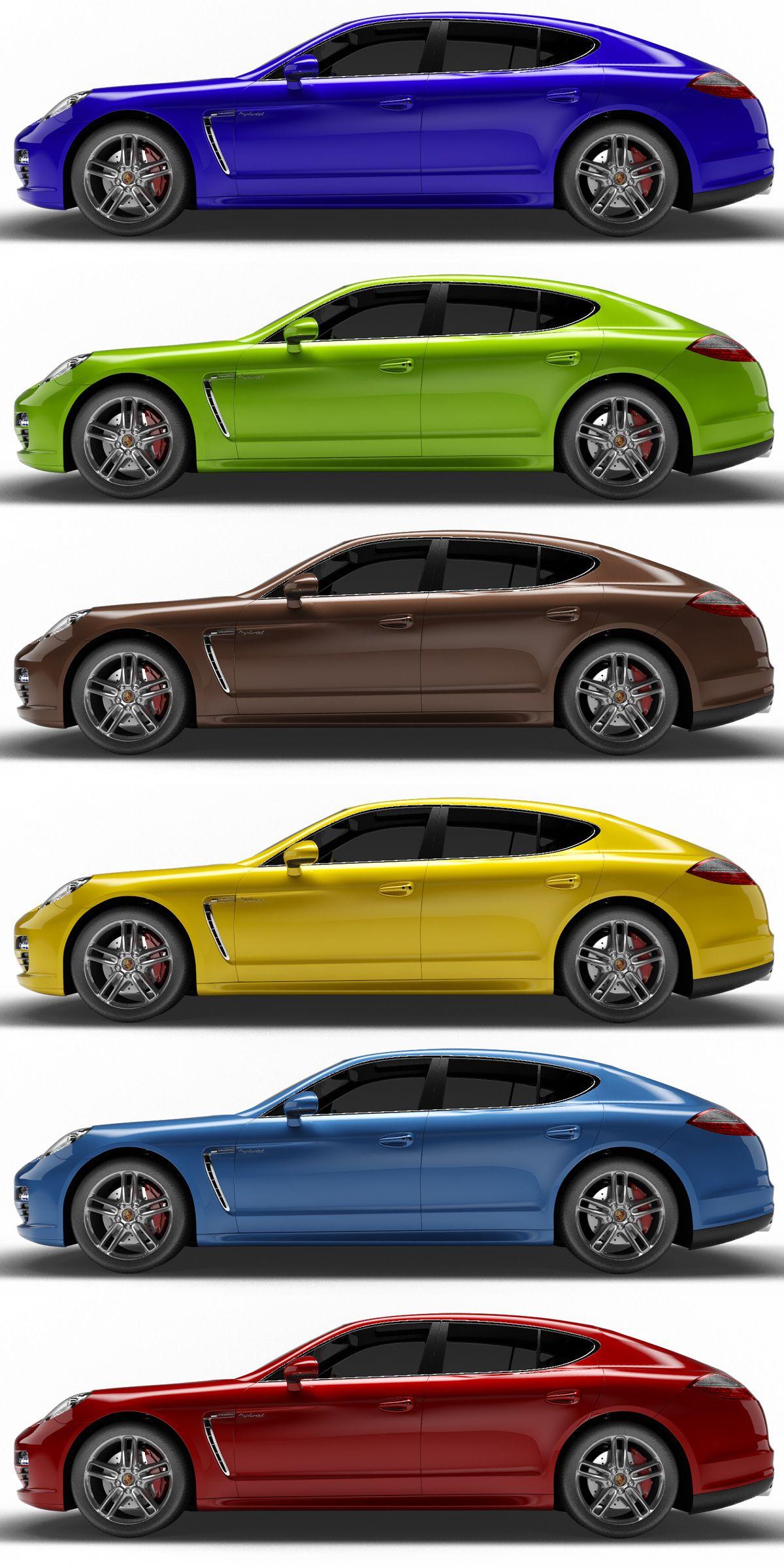 Porsche Panamera S Hybrid 6 Colors Panamera Porsche Colors Hybrid Porsche Panamera Porsche Hybrid Car