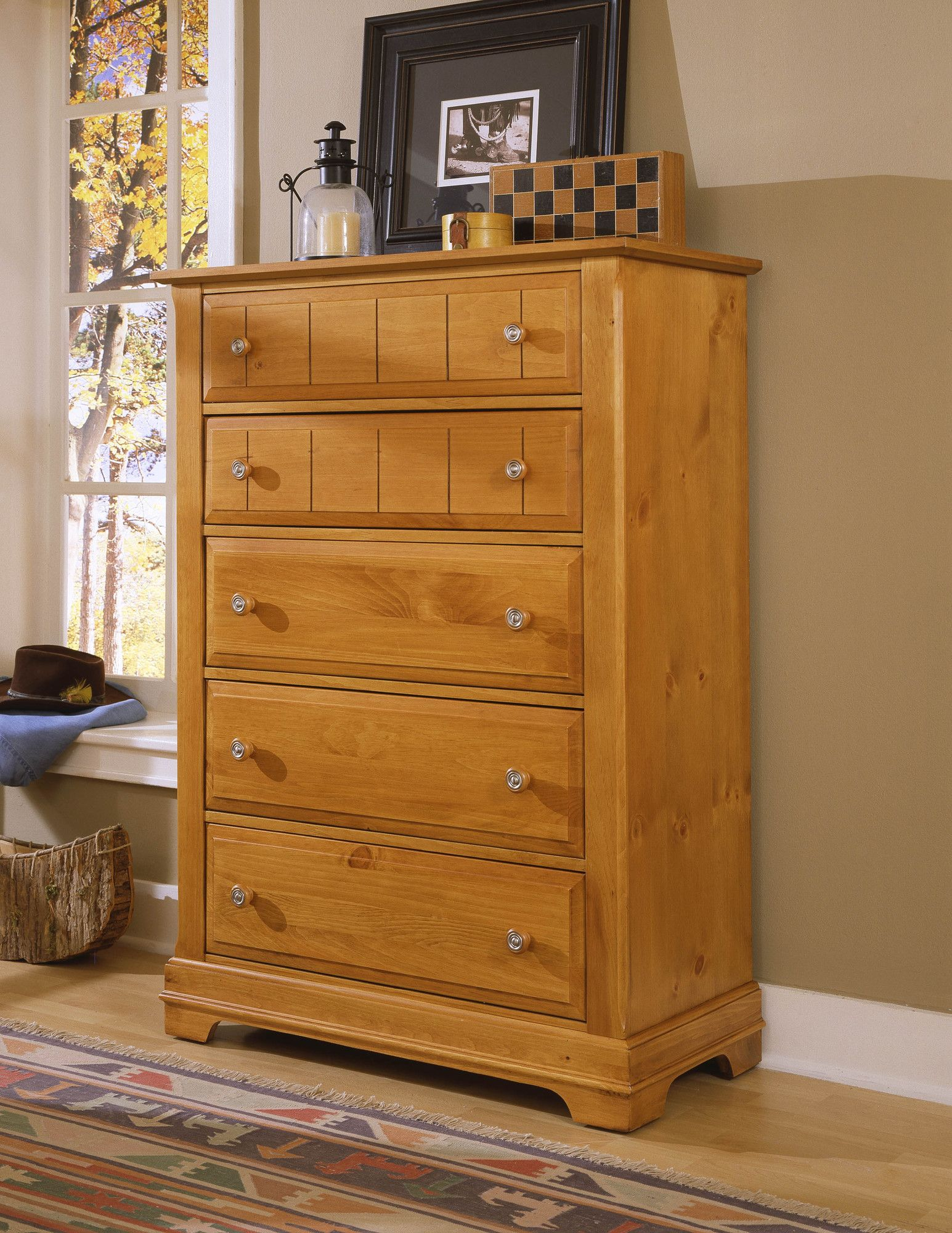 VaughanBassett Cottage 5 Drawer Chest Furniture mart