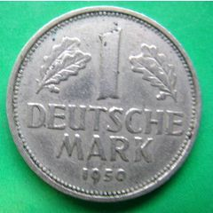 1 deutsche mark 1950 bundesrepublik deutschland