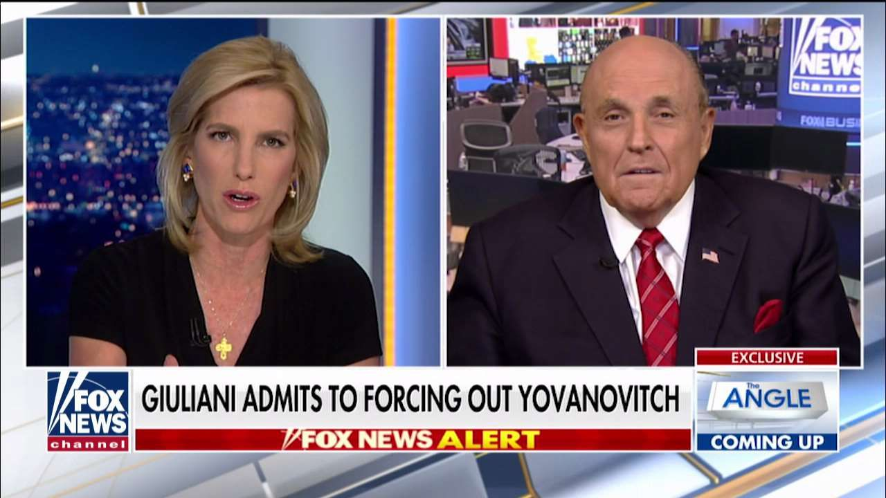 Rudy Giuliani Says He Was Key Player In Yovanovitch Ouster Has Proof Of Dem Impeachment A Cover Up Rudy Giuliani Marie Yovanovitch Double Down
