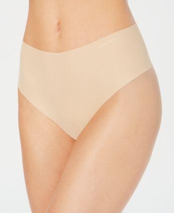 18fda8b246a Calvin Klein High-Waist Thong QF4982 - Ivory Cream XS