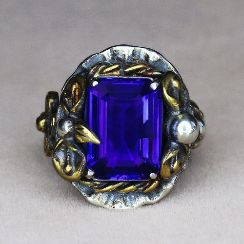 #Vintage #Jewelry 8.48CT 100% Natural 925 Silver AAAAA Violet Blue Tanzanite Vintage Ring CTEY3 #Christmas #Gifts