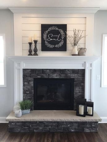 This Collection Of Fireplace Mantels Is Full Of Warm Cozy Decor Inspiration And Ideas For Even Farmhouse Fireplace Mantels Living Room Remodel Home Fireplace