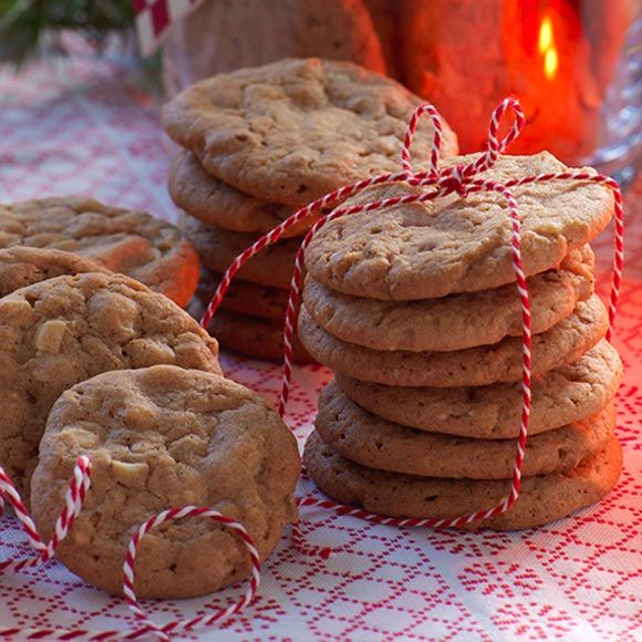 Chocolate chip cookies med smak av pepparkaka