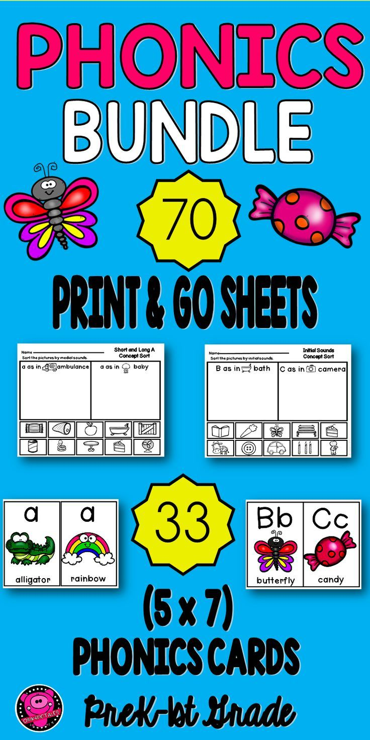 PHONICS Worksheets and Posters Kindergarten | Pinterest | Phonics ...