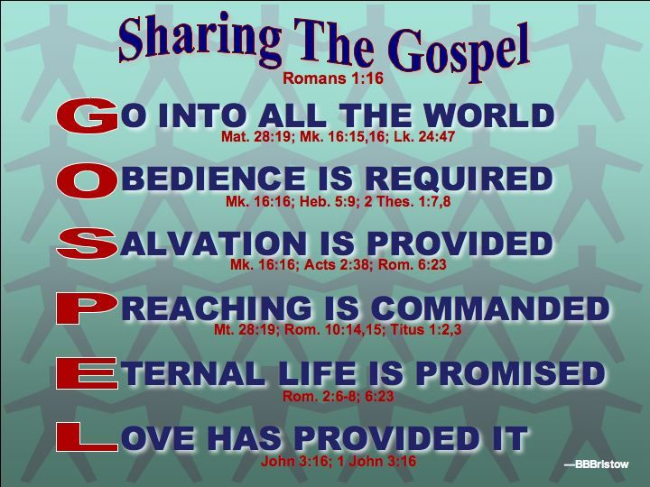 Sharing The Gospel Message Gospel Message Gospel Words Of