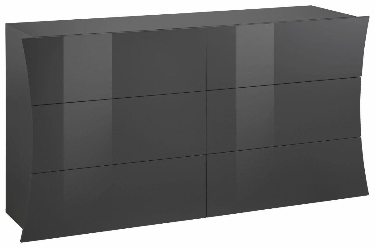 Wohnzimmer kommode ~ Kommode arco« grau hochglanz mit schubkästen fsc