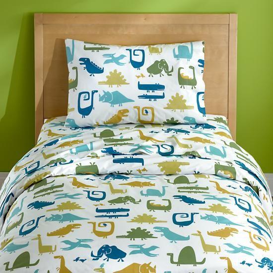 kidsu0027 bedding dinosaur print sheet set in sheet sets the land of nod
