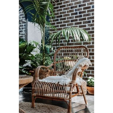 Home Bazar 87cm Bandung Rattan Chair | Bunnings Warehouse ...