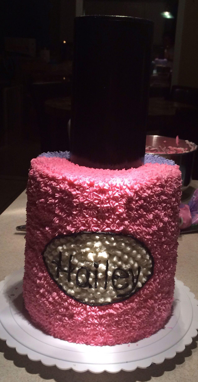 Nail Polish Birthday Cake Creative Touch