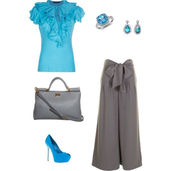 """The Blue & Gray"" by hartclotheshorse on Polyvore"
