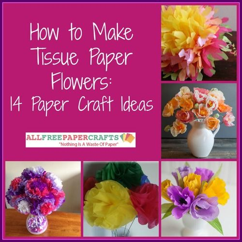How To Make Tissue Paper Flowers 14 Paper Craft Ideas Tissue