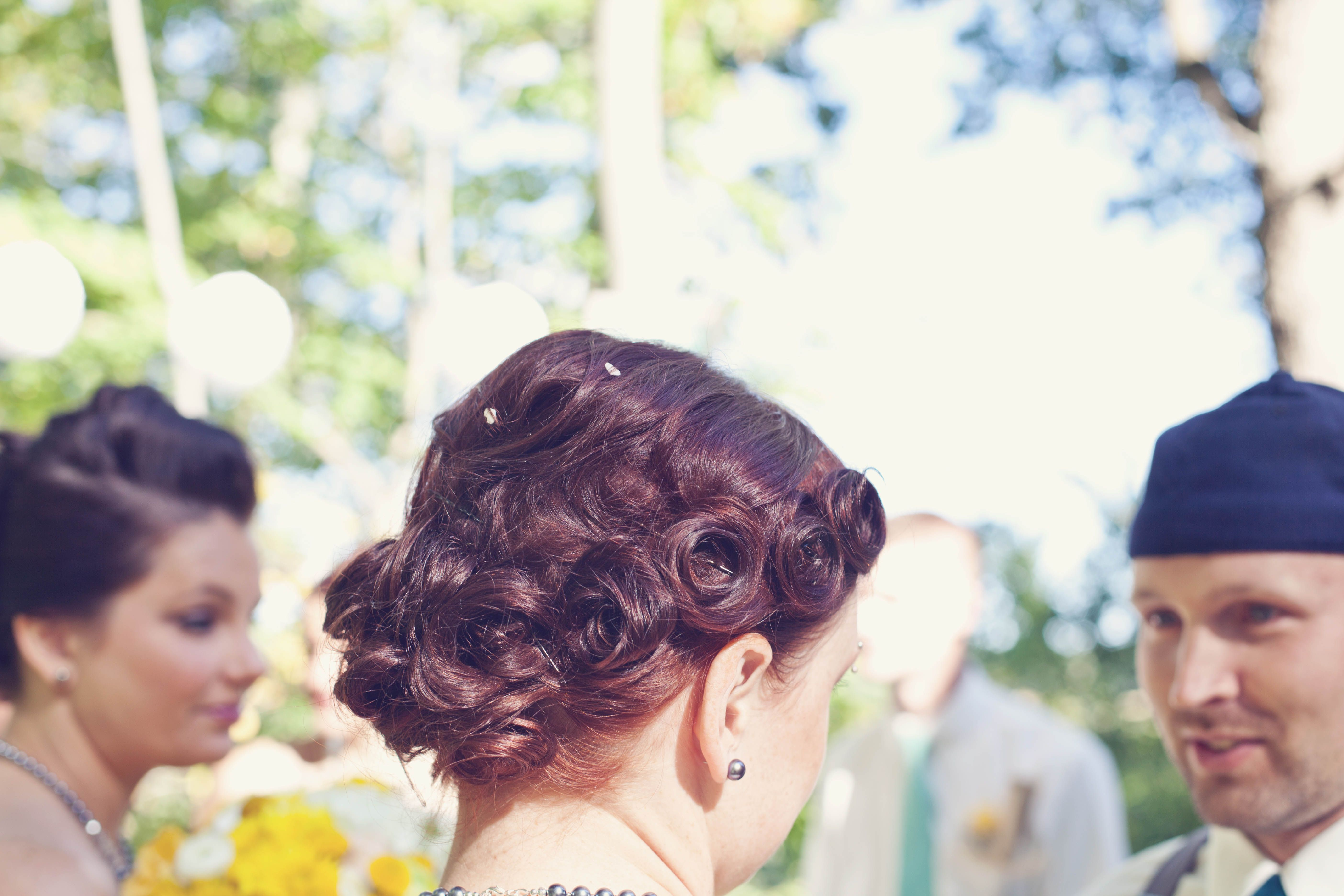 Beautiful Bridesmaid Hair Do (with some rice in it)  Abby Peterson - hair Rachel Resch Photography