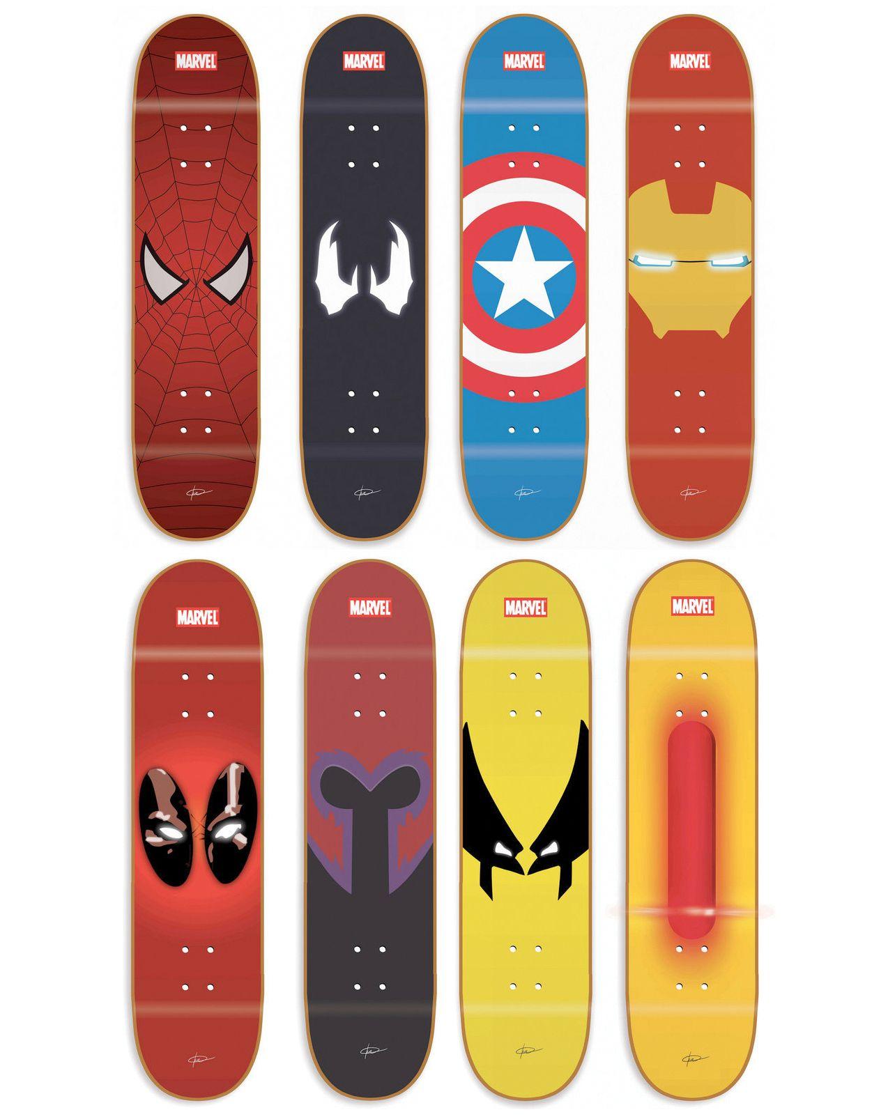 bb67bf83e67 Marvel Skateboard decks Spiderman