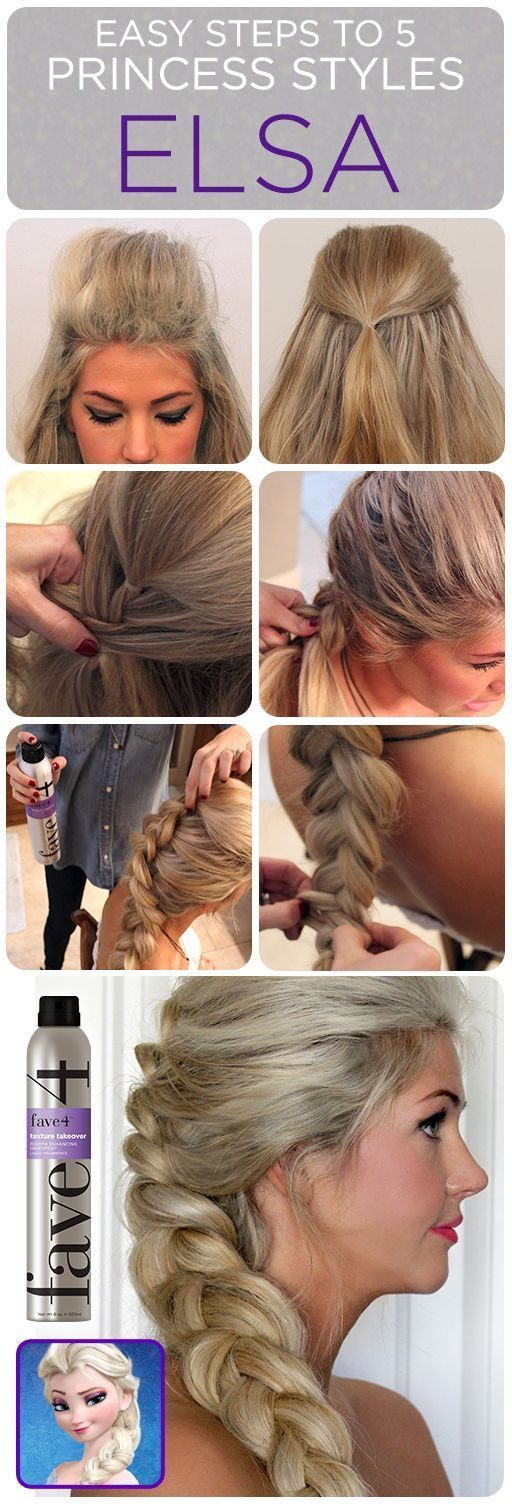 easy steps to 5 promcess styles.#Frozen   Summer Hairstyles, easy steps to 5 promcess styles.#Frozen Source by 7dayscosplay...