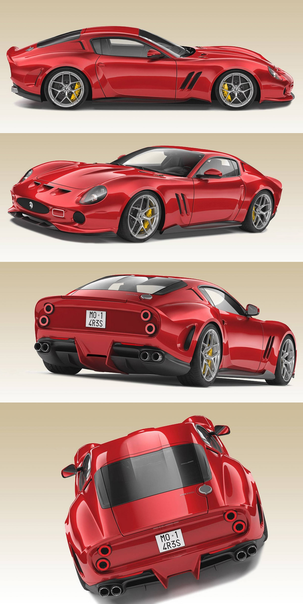 Ferrari 250 Gto Redesign By Ares Design Four Wheels Of Fury