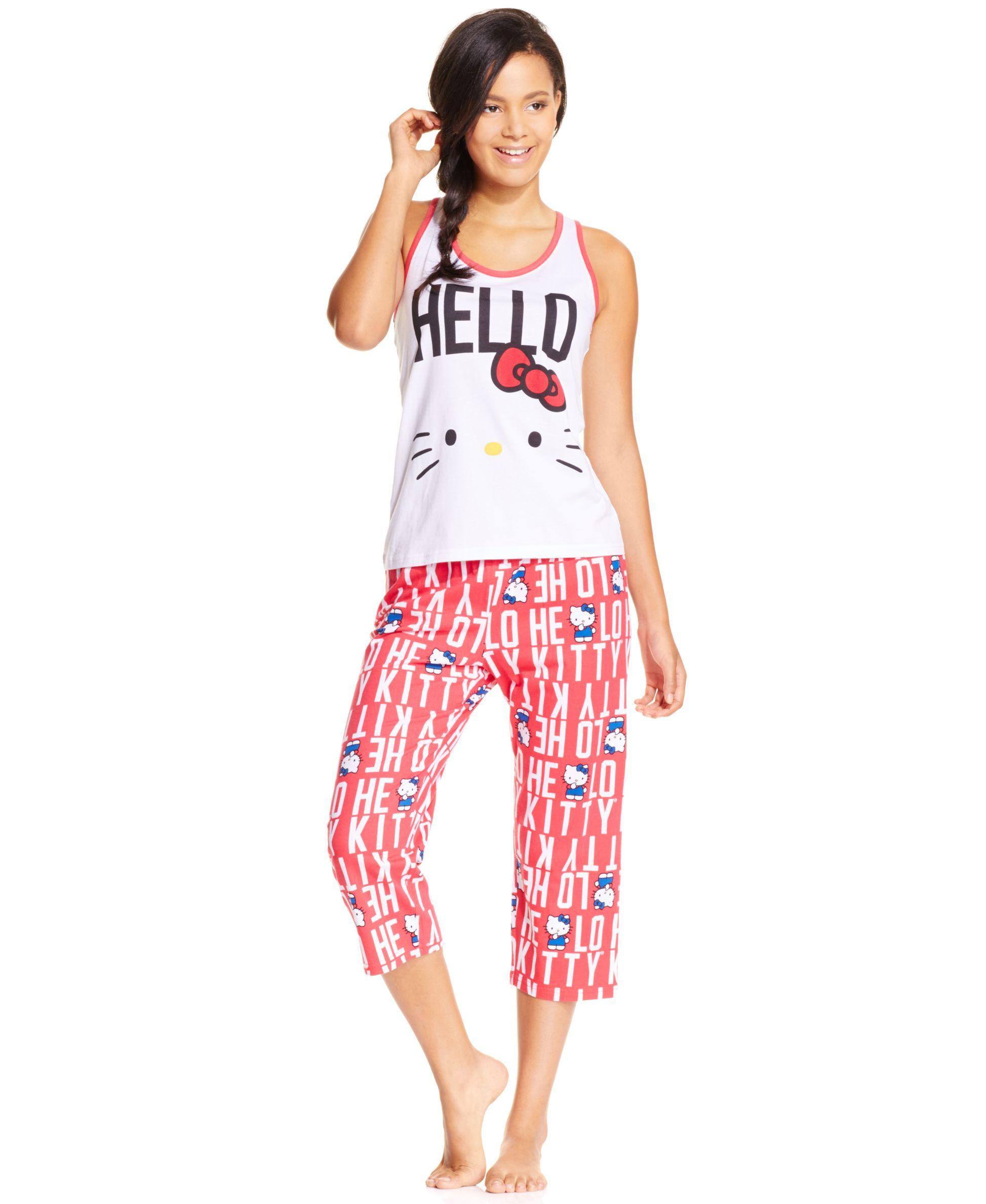 6263595c5 Hello Kitty Patriotic Tank and Capri Pajama Pants Set | Products ...