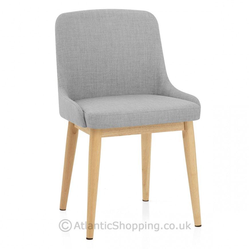 Jersey Dining Chair Oak Light Grey