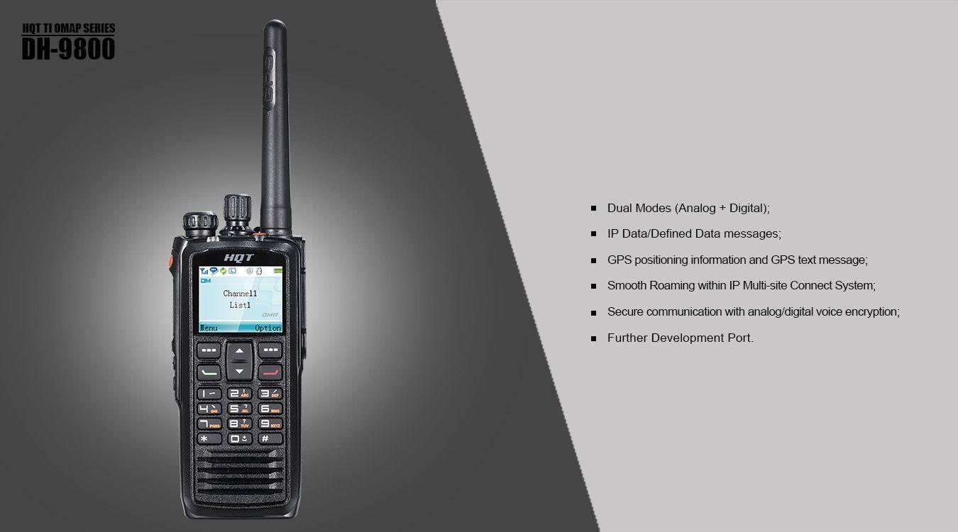 HQT Digital Handheld Radios DH-9800, built to DMR standard
