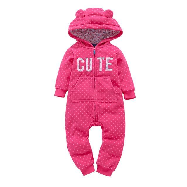 41d8f4d98cb9 casaco infantil bebes girl snow clothes Winter Rompers hoodies roupa kids  clothing one piece Baby Girls boys love pink suits